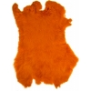 Rabbit Fur Skin - Medium Grade  Dyed Orange (1pc)